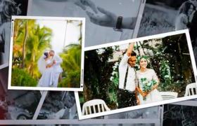 時尚漏光效果現代化歐式婚禮圖文婚禮相冊展示AE模板