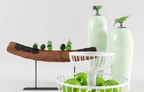 精致創意性家居裝飾設計水果展架陳設臺3D藝術擺件模型