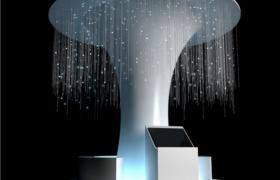 唯美星空灯效粒子科技艺术展厅陈列装饰树3dmax模型