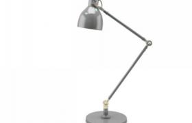 灰色工业风家居装饰电子台灯摆件3D MAX模型(含贴图)