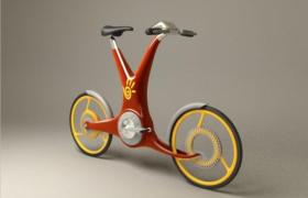 青少年创意脑洞设计动力工程学UU自行车3D模型展示