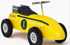RACING TEAM精品油漆镀铬件儿童玩具车3D高光渲染模型