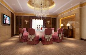 高端豪华的大空间室内酒店包厢3D场景工程渲染模型下载