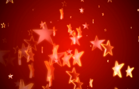 红色党政-闪亮五角星动态上升三维转动创意红色党政无缝循环视频背景素材国庆节