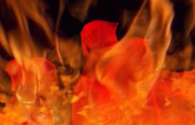 红色党政-火焰前景红色丝绸飘舞动态热烈风格党政舞台背景党政党建国庆节片头