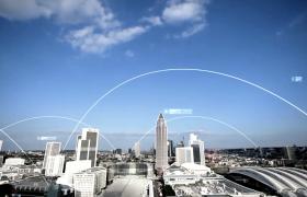 数字科技片头-现代化城市数字连线科技一体话跨时代发展金融栏目包装片头视频素材