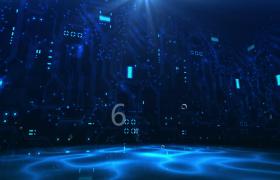 科技视频素材-数字气泡漂浮蓝色科技风创意现代化演绎开场片头视频素材