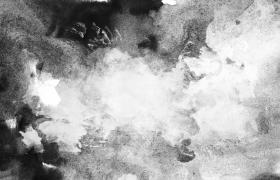 中国风素材-黑白泼墨晕染效果创意遮罩唯美相册演绎动态遮罩前景视频素材