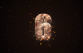 倒計時-空間石塊碎裂拼接震撼數字展示大氣十秒倒計時活動渲染預熱視頻素材