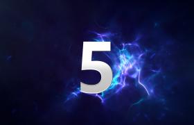 倒計時-科技藍數字翻轉三維演繹動態5秒倒計時科技宣傳發布會預熱開場視頻素材