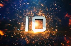 倒計時-火焰爆炸效果震撼年會開場十秒倒計時視頻素材