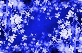 婚礼素材-淡蓝冰花演绎静谧唯美风浪漫婚礼演出背景视频素材