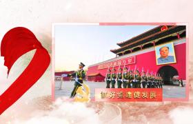 党建AE模板_中国风水墨背景红色丝带动画党建宣传片AE模板国庆节