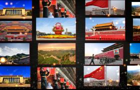 建党宣传模板_金色粒子漂浮党建历程图集展示片头动画AE模板国庆节