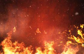 背景素材-红色火花粒子闪烁激情震撼舞台背景视频素材