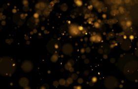 特效素材-唯美黄色朦胧粒子迸发动态光斑特效背景视频素材