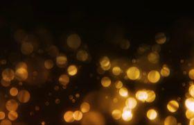 特效素材-无限循环金色粒子上升颁奖舞台装饰特效背景视频素材