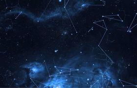 特效素材-震撼蓝色科技感粒子星空背景特效视频素材
