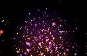 特效素材-缤纷震撼唯美粒子光线舞台背景特效视频素材