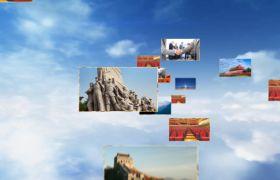 党政模板-新征程中国梦大气图片漂浮党政类节日节目开场片头视频素材模板国庆节