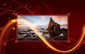 党政模板-红色路径党政科技图片依次展示大气视频模板国庆节