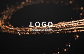 标志模板-光效粒子线条划过标志展示演绎企业宣传开场视频模板