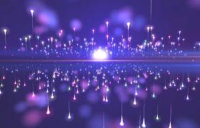 婚禮素材-光效粒子唯美對稱擴散浪漫婚禮舞臺演繹視頻素材