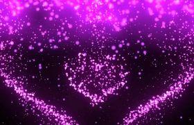 婚禮素材-紫色愛心擴散唯美婚禮舞臺演出背景浪漫告白視頻素材