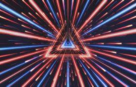 VJ素材-动感粒子光线空间几何图形通道穿梭酷炫酒吧夜场舞台背景视频素材