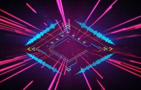 VJ素材-幾何線條圖形變換音頻可視化效果酷炫酒吧夜場舞臺VJ視頻素材