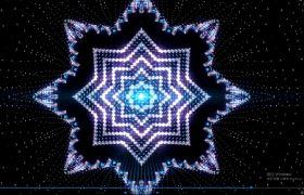 VJ素材-动感炫酷八角形旋律闪烁动感无缝循环舞台渲染演出视频素材