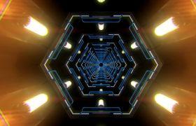 VJ素材-科技动感色彩璀璨视觉效果晚会通道时光门VJ视频素材