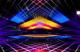 VJ素材-炫酷震撼平面立体漂浮灯光闪烁酒吧舞厅动感演出视频素材