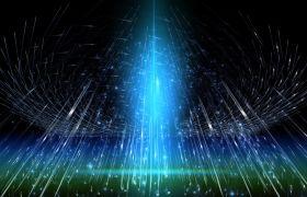 粒子光效-水晶光线映射酷炫唯美舞台演绎婚礼演出场景背景粒子光效视频素材