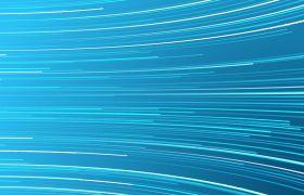 线条波纹-唯美蓝色粒子线条酷炫标志演绎动画背景视频素材