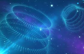 科技粒子-酷炫藍色科技風背景粒子螺旋旋轉大氣舞臺演出背景視頻素材