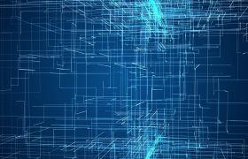 光線素材-藍色科技線條三維動態展示酷炫演繹視頻素材
