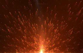 粒子光效-金色火花粒子唯美演绎震撼党政舞台背景视频素材