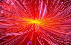 粒子光效-火红的粒子拖尾发散大气党政喜庆节日合成特效视频素材