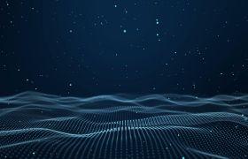 光線波紋-粒子連線波紋動態前進夢幻科技風頒獎盛典舞臺背景合成素材
