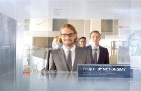 企業包裝模板-三維方塊視覺科技風企業公司業務圖文排版宣傳片頭視頻模板Clean 3D Corporate