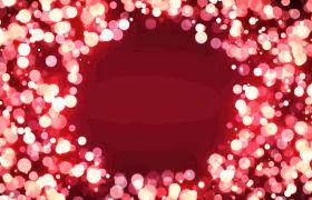 晚会素材-唯美浪漫粉色光斑粒子边框创意晚会演出背景合成视频素材