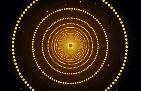 晚会素材-粒子线条圆环波纹循环扩散大气震撼晚会演出舞台背景合成视频素材