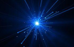 晚会素材-蓝色科技空间隧道穿梭大气演绎舞台合成视频素材