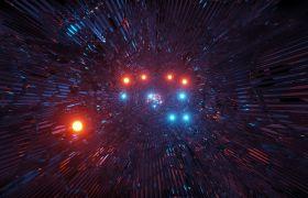 晚会素材-4K科技风隧道穿梭酷炫震撼晚会舞台背景视频素材