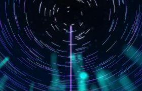 晚会素材-线条粒子汇集唯美星空大气晚会舞台背景视频素材