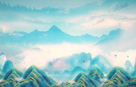 中國風素材-自然風光唯美展示旅游類演繹大自然風景開場片頭視頻素材