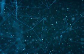 科技视频-炫酷蓝色创新科技律动感线条背景视频素材
