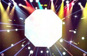 舞台背景素材-震撼大气空间旋转节奏光线舞台效果背景素材