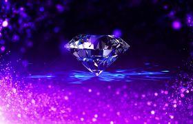 婚礼素材-典美紫色闪烁粒子永恒钻石婚礼背景视频素材